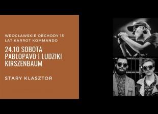 Zmiana terminu koncertu PABLOPAVO I LUDZIKI oraz KIRSZENBAUM!(24.10.20)