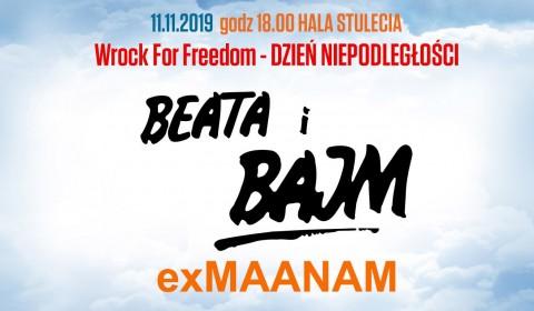 Beata i Bajm oraz exMaanam zagrają w Hali Stulecia! (11.11.19)