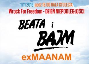 Beata i Bajm oraz exMaanam zagrają 11 listopada w Hali Stulecia! (11.11.19)