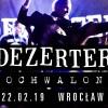 Dezerter i Pochwalone zagrają w Starym Klasztorze! (22.02.19)