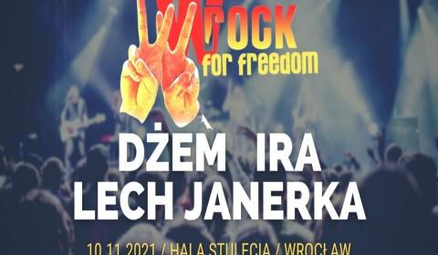 DŻEM, IRA i LECH JANERKA zagrają na wROCK for Freedom 2021!